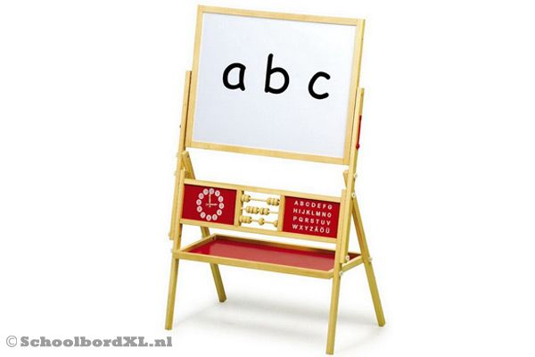 Abc schoolbord met whiteboard.